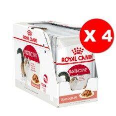 ราคา Royal Canin Instinctive Pouch Gravy 48 Pouches โรยัลคานิน อาหารชนิดเปียกแบบซอง สำหรับแมวโตอายุ1ปีขึ้นไป เกรวี่ 48ซอง กล่อง ใหม่