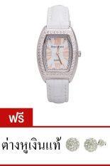 Royal Crown นาฬิกาประดับเพชร หรูสไตล์อิตาลี รุ่น 3635L White แถมฟรี ต่างหูเงินแท้มูลค่า 990 บาท 1 คู่ ปทุมธานี