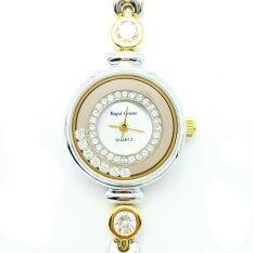 ซื้อ Royal Crown นาฬิกาข้อมือผู้หญิง สายสแตนเลสอย่างดี ชุบทอง รุ่น 6402 Ssl Silver Gold