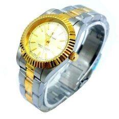 ขาย Royal Crown นาฬิกาข้อมือหญิง สายสแตนเลส ชุบทองอย่างดี รุ่น 3662L Gold Silver ออนไลน์ ใน กรุงเทพมหานคร