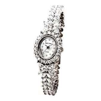 Royal Crown นาฬิกาข้อมือผู้หญิง ประดับเพชร cz อย่างดี รุ่น 2527-b17-sv (Silver)