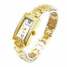 โปรโมชั่น Royal Crown นาฬิกาข้อมือผู้หญิง สายสแตนเลสชุบทองอย่างดี สีทอง รุ่น 3591 Ssl Gold Royal Crown ใหม่ล่าสุด