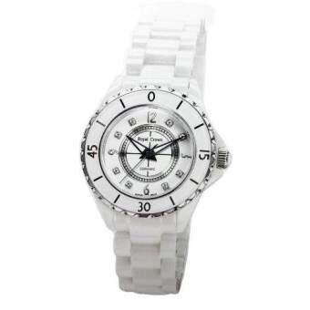 Royal Crown นาฬิกาข้อมือผู้หญิงประดับเพชร สายเซรามิก รุ่น 3821L-5 (White)