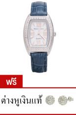 ราคา Royal Crown นาฬิกาประดับเพชร หรูสไตล์อิตาลี รุ่น 3635L Dk Blue แถมฟรี ต่างหูเงินแท้มูลค่า 990 บาท 1 คู่ เป็นต้นฉบับ