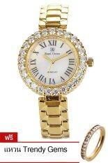 ขาย Royal Crown นาฬิกาประดับเพชร รุ่น 6305 Ssl สีทอง แถมฟรี แหวนเพชร Cz ผู้ค้าส่ง