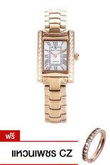 ซื้อ Royal Crown นาฬิกาประดับเพชรสไตล์อิตาลี รุ่น 6306 Ssl Pink Gold แถมแหวนเพชร Cz ออนไลน์ ปทุมธานี