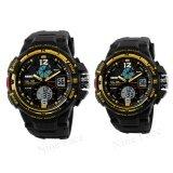 โปรโมชั่น S Sport นาฬิกาข้อมือคู่ 9292 3200 Black Gold ถูก
