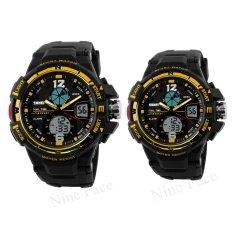 ราคา S Sport นาฬิกาข้อมือคู่ 9292 3200 Black Gold Sevenlight