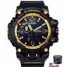 ราคา S Sport นาฬิกาข้อมือผู้ชาย เครื่องญี่ปุ่น กันน้ำได้ดีรุ่น แถมฟรีกล่องเหล็ก Gp9221 ใหม่ ถูก