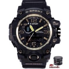S Sport นาฬิกาข้อมือผู้ชาย เครื่องญี่ปุ่น กันน้ำได้ดีรุ่น (แถมฟรีกล่องเหล็ก)  Gp9221.