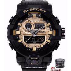S Sport นาฬิกาข้อมือผู้ชาย เครื่องญี่ปุ่น กันน้ำได้ดีรุ่น (แถมฟรีกล่องเหล็ก) Gp9241 .
