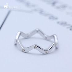ขาย ไหลบ่าเข้ามาของผู้คน S925 แหวนที่เรียบง่ายแหวนหญิงเวอร์ชั่นญี่ปุ่นและเกาหลีอารมณ์ Other ถูก