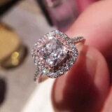 ขาย แหวนเพชรกะรัต S925 18K เงินสเตอร์ลิงจำลองเพศหญิงแต่งงาน ฮ่องกง ถูก
