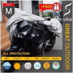 Sabai Cover ผ้าคลุมมอเตอร์ไซค์ รุ่น Great Outdoor Size M Free Size Standard Size Big Bike M ผ้าคลุมรถมอเตอร์ไซค์ ผ้าคลุมบิ๊กไบค์ Motorcycle Cover Big Bike Cover ใหม่ล่าสุด