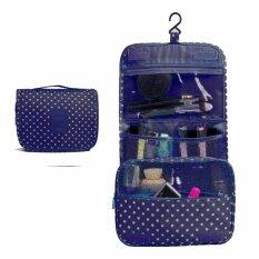 ซื้อ Saki กระเป๋าแบ่งของ กระเป๋าจัดระเบียบ 2 สีน้ำเงินลายจุด