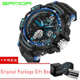 Sanda 2016 New Fashion Outdoor Sports Men And Women Students Waterproof Lovers Watch Large Size Intl ถูก