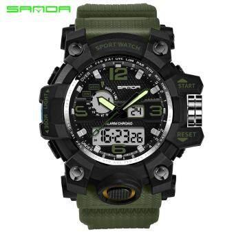 เอ้าท์เล็ทแบรนด์นาฬิกากีฬานาฬิกาทหารกองทัพอนาล็อกดิจิตอลนำอิเล็กทรอนิกส์ควอตซ์นาฬิกาข้อมือ 50 เมตรกันน้ำ relogio masculino 742 - นานาชาตินาฬิกานาฬิกาข้อมือนาฬิกาข้อมือ