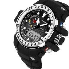 ทบทวน Sanda กลางแจ้งกีฬานาฬิกาผู้ชายทหารนาฬิกาข้อมืออิเล็กทรอนิกส์กันน้ำกันกระแทก Led Digital Shock นาฬิกาข้อมือ Sanda