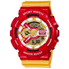 ซื้อ Sanda Sport นาฬิกาข้อมือ แฟชั่น ดิจิตอล กันน้ำ สีแดง ผู้ชาย Fashion Analog Digital Led Waterproof Multifunction Men Watch Red ถูก