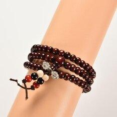 ขาย Sandalwood Buddhist Buddha 6Mm 108Pcs Prayer Beads Mala Bracelet Necklace Chain Beautiful And Handsome Intl ถูก จีน