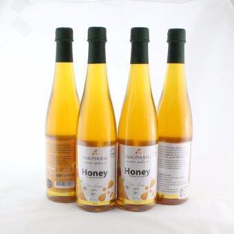 น้ำผึ้งธรรมชาติจากดอกไม้ป่าแท้100% ตราแสงผึ้งขนาด1000 ml จำนวน4 ขวด
