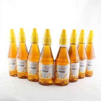 น้ำผึ้งธรรมชาติจากดอกไม้ป่าแท้ 100% ตราแสงผึ้งขนาด300 ml จำนวน 8 ขวด