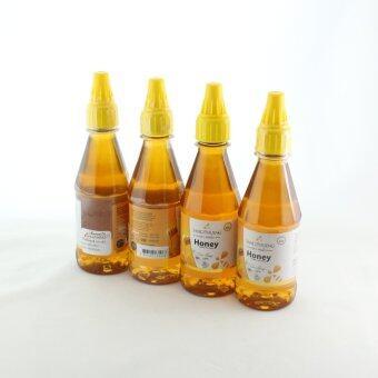 น้ำผึง SANGPHUENG แสงผึ้ง น้ำผึ้งดอกลำไยแท้ 100% ขนาด 300 ml จำนวน 4 ขวด
