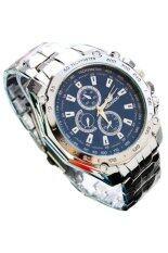 Sanwood® ผู้ชายสแตนเลสสตีลสายนาฬิกาสีฟ้านาฬิกาควอตซ์กีฬา-นานาชาติ.
