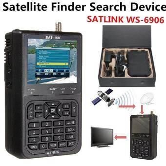 SATlink WS-6906 3.5 ''DVB-S FTA ข้อมูลดิจิตอลจานดาวเทียมสัญญาณเครื่องค้นหาเมตรดำ-นานาชาติ-
