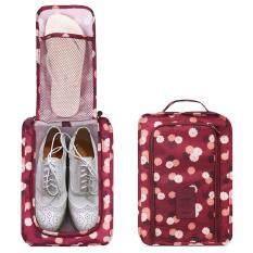 ขาย Savfy กระเป๋ารองเท้า กระเป๋าใส่รองเท้า Shoes Pouch Portable Shoes Organizer Shoes Bag(Wine Red Flower กรุงเทพมหานคร