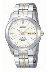 ราคา Seiko นาฬิกาข้อมือผู้ชาย กระจกซัฟฟราย สีเงิน สีทอง สายสแตนเลส 2 กษัตริย์ รุ่น Sgg719P1 ใหม่