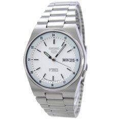 ขาย Seiko 5 Automatic Men S Watch สีเงิน สีขาว สายสแตนเลส รุ่น Snxm17K Seiko ใน Thailand