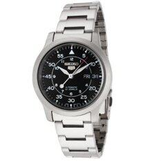 ขาย Seiko 5 Automatic Men S Watch Silver Black Stainless Steel รุ่น Snk809K1 ไทย
