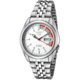 ขาย ซื้อ ออนไลน์ Seiko 5 Automatic นาฬิกาข้อมือผู้ชาย สีเงิน สีขาว สายสแตนเลส รุ่น Snk369K1