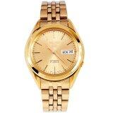 ขาย Seiko 5 Automatic นาฬิกาข้อมือผู้ชาย สีทอง รุ่น Snkl28K1 ราคาถูกที่สุด