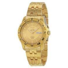 ขาย Seiko 5 Automatic Sports Bracelet Watch Gold Stainless Strap Snzj36K1 ถูก