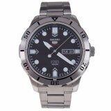 ขาย Seiko 5 Automatic Sports นาฬิกาข้อมือผู้ชาย สีดำ สายสแตนเลส รุ่น Srp671K1 ผู้ค้าส่ง