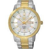 ราคา Seiko 5 Jumbo Size Automatic Men S Watch สายสแตนเลส 2 กษัตริย์ รุ่น Snkn58K1 สีทอง สีเงิน ใหม่ล่าสุด