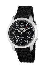ส่วนลด สินค้า Seiko 5 Military Automatic Mens Watch Black Canvas Strap Snk809K2