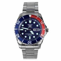 ขาย Seiko 5 นาฬิกาข้อมือผู้ชาย Blue Dial Stainless Steel Automatic Snzf15K1 เป็นต้นฉบับ