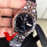 ความคิดเห็น Seiko 5 Sport Automatic นาฬิกาข้อมือผู้ชาย สายสแตนเลส หน้าน้ำเงินเข้ม รุ่น Snk357K1