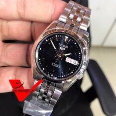 โปรโมชั่น Seiko 5 Sport Automatic นาฬิกาข้อมือผู้ชาย สายสแตนเลส หน้าน้ำเงินเข้ม รุ่น Snk357K1 ใน Thailand