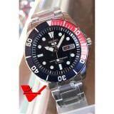 ทบทวน ที่สุด Seiko 5 Sport Automatic นาฬิกาข้อมือผู้ชาย สายสแตนเลส รุ่น Snzf15K1 สีน้ำเงิน แดง