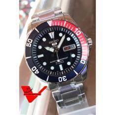 ราคา Seiko 5 Sport Automatic นาฬิกาข้อมือผู้ชาย สายสแตนเลส รุ่น Snzf15K1 สีน้ำเงิน แดง ที่สุด