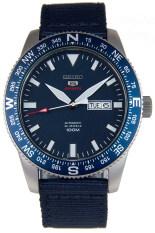 ซื้อ Seiko 5 Sports Automatic นาฬิกาข้อมือผู้ชาย สีน้ำเงิน สายผ้า รุ่น Srp665K1 ใน Thailand