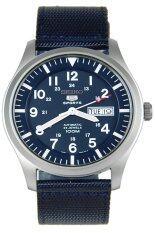 ซื้อ Seiko 5 Sports Men Automatic นาฬิกาข้อมือผู้ชาย สีน้ำเงิน สายผ้า รุ่น Snzg11K1 Seiko ถูก