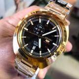 ขาย ซื้อ ออนไลน์ Seiko 5 Sports Men Automatic Watch นาฬิกาข้อมือผู้ชาย สีทอง ดำ สายสแตนเลสสีทอง รุ่น Ssa284K1