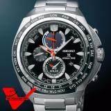 ราคา Seiko Alarm Chronograph Solar กระจก Sapphire Glass นาฬิกาข้อมือผู้ชาย สายสแตนเลส รุ่น Ssc487P1 Seiko ใหม่