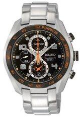 ซื้อ Seiko Criteria Chronograph Sapphire นาฬิกาข้อมือผู้ชาย สีเงิน ดำ สายสแตนเลส รุ่น Sndd37P1 Seiko