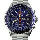 ซื้อ Seiko Flightmaster Chronograph นาฬิกาข้อมือผู้ชาย สีเงิน น้ำเงิน สายสแตนเลส รุ่น Snd255P1 ใหม่